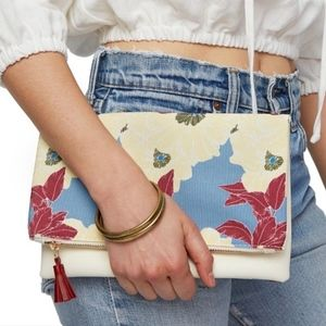 Rachel Pally Reversible Clutch in Paradise Ivory
